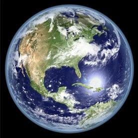 Digital elevation model of Earth