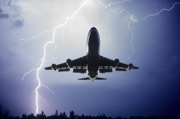 What happens when lightning strikes an airplane