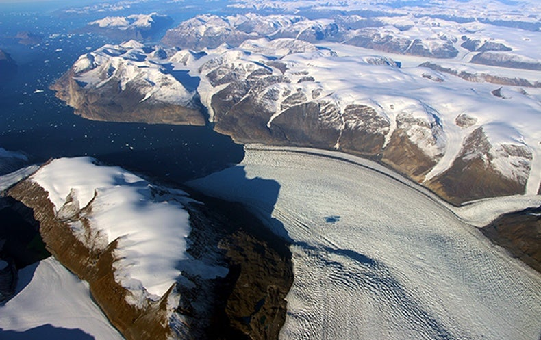 Greenland Glacier Melt has Warped the Earth's Crust
