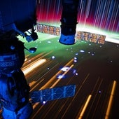 A VIEW OF RUSSIAN SOYUZ AND PROGRESS