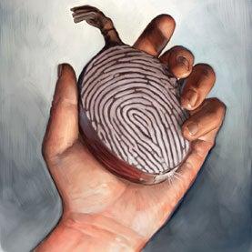 fingerprint, hand, unreadable fingerprint