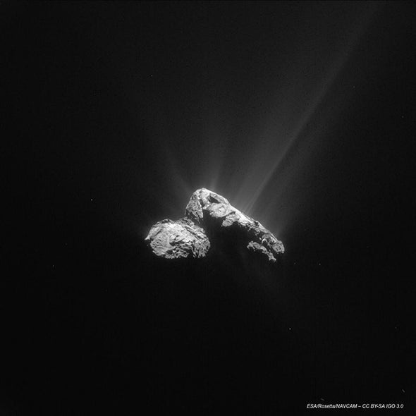 Comet and Rosetta Spacecraft Make Closest Approach to the Sun