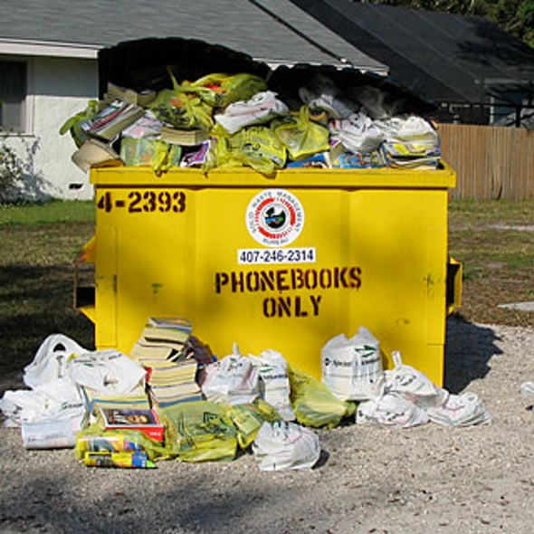 The Environmental Problem of Phone Books--Is There a Solution?
