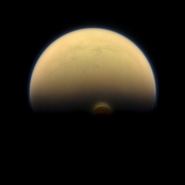 Gigantic Ice Cloud Spotted on Saturn Moon Titan