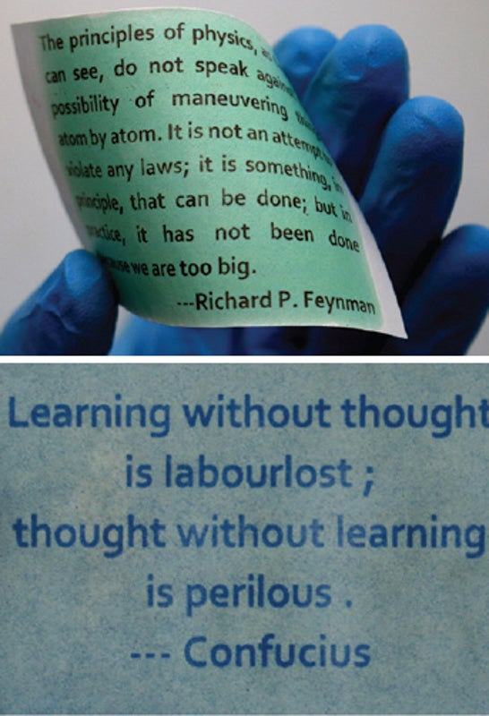 Reprintable Paper Offers Sustainable Alternative to the Printed Word