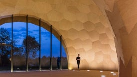 Bot-Built Exhibit Hall Shows Architectural Flair and Avant-Garde Design