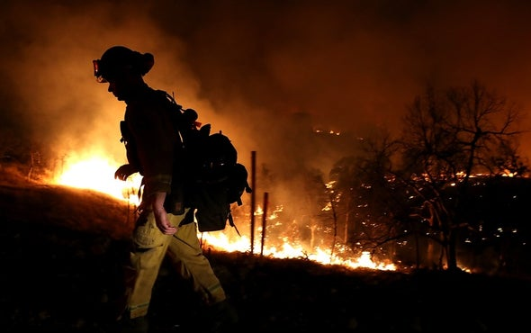 Firefighters Are Focused on Flames, Not Climate Change