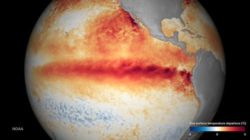 El Niño Strengthening, Will Be among Biggest on Record, WMO Says