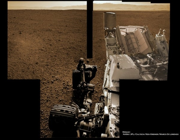 Loitering and Reconnoitering: Curiosity Images Itself in Gale Crater Mosaic