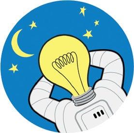 space lamp, astronaut, astronaut sleeping