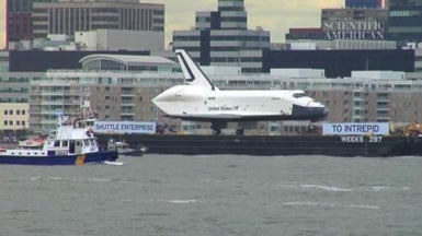 Space Shuttle Enterprise Makes Its Final Journey