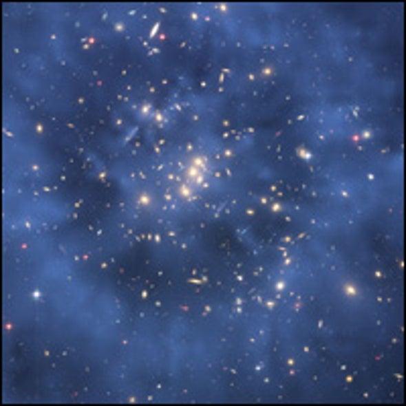 Dark Matter Halo May Mark Ancient Galactic Collision
