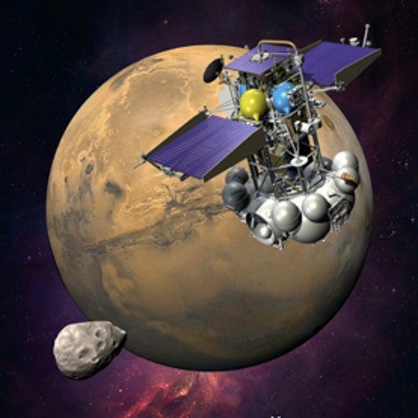 Russia Launching Probe to Sample Mars's Moon Phobos Today
