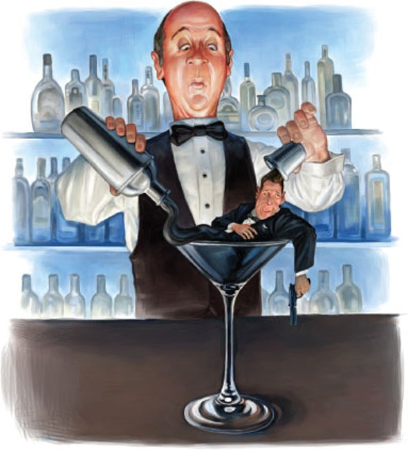 Could It Be That James Bond's Martinis Were Shaken Because He Had Alcoholic Tremor?