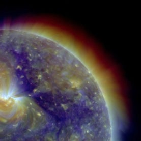 Solar corona in multiple wavelengths from the Solar Dynamic Observatory