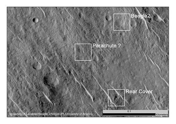 Lost Mars Lander Found in NASA Photos