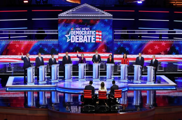 Climate Comes Up at Democratic Debate but with Few New Details