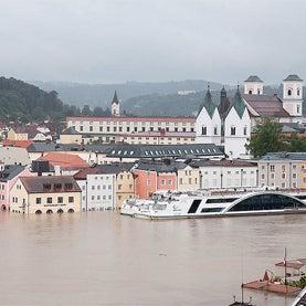Passau floods, Danube river flood