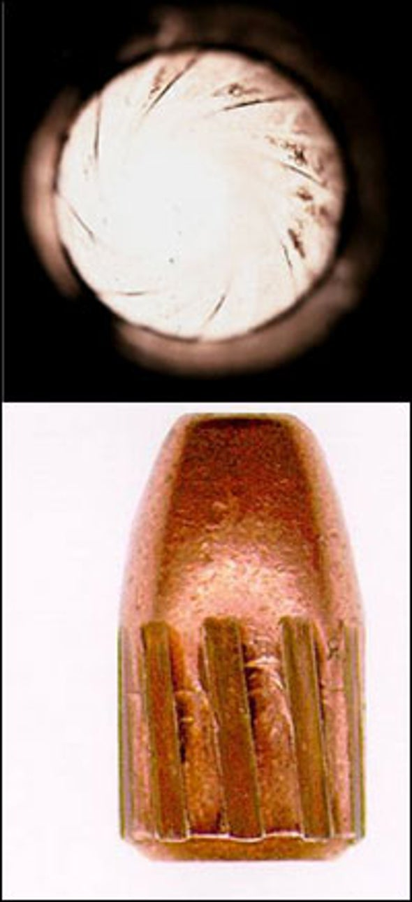 How can a bullet be traced to a particular gun?