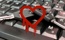 graphic of heart bleeding over a keyboard and key