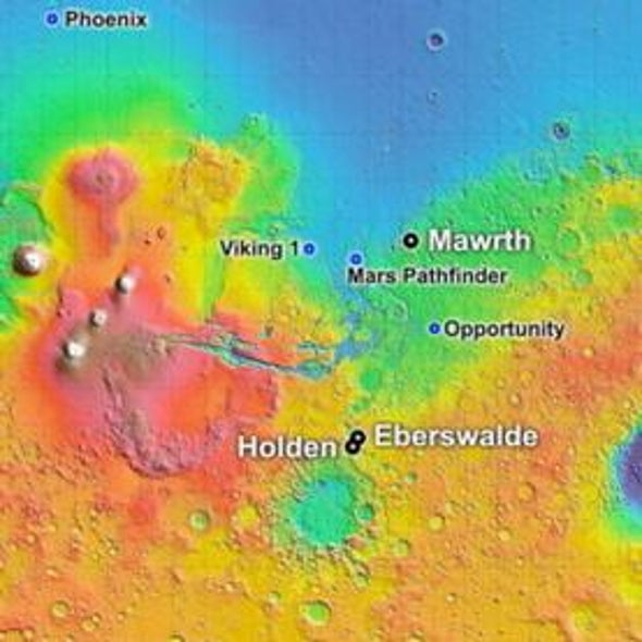 Mars Landing Site Chosen for Next Rover