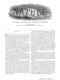 Nature at War: A special collection of articles originally published between 1914 and 1918