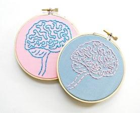 brain anatomy hoop art