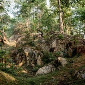 Abandoned quarry at Jaitur Pen sacred site.