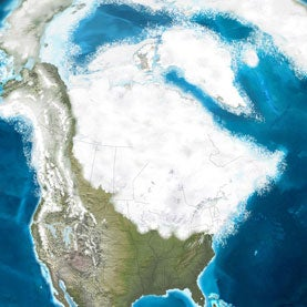 map of North America during Younger Dryas