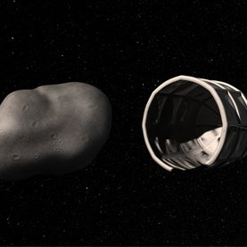 asteroids can be captured by spacecraft