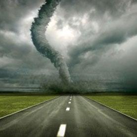 tornado on the horizon