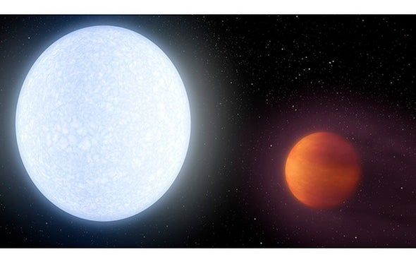 Feeling Hot, Hot, Hot: Astronomers Discover a Giant Planet Hotter Than Most Stars