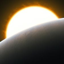Extrasolar planet with its host star