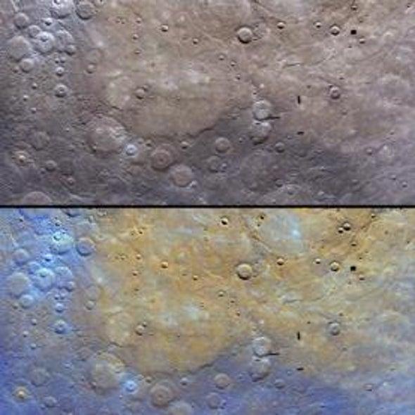 Mercury's Surface Resembles Rare Meteorites