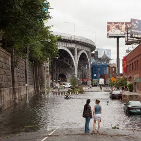Hurricane Irene: Flooding along 12th Ave between W.139th and 135th in Manhattan