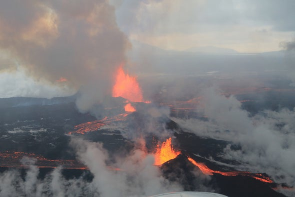 Gas-Spewing Icelandic Volcano Stuns Scientists