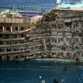 Crippled <i>Costa Concordia</i> Ship Is Upright--Now What?