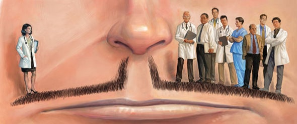 Mustache Analysis Reveals Men Still Much More Likely Than Women to Be Medical Bigwigs
