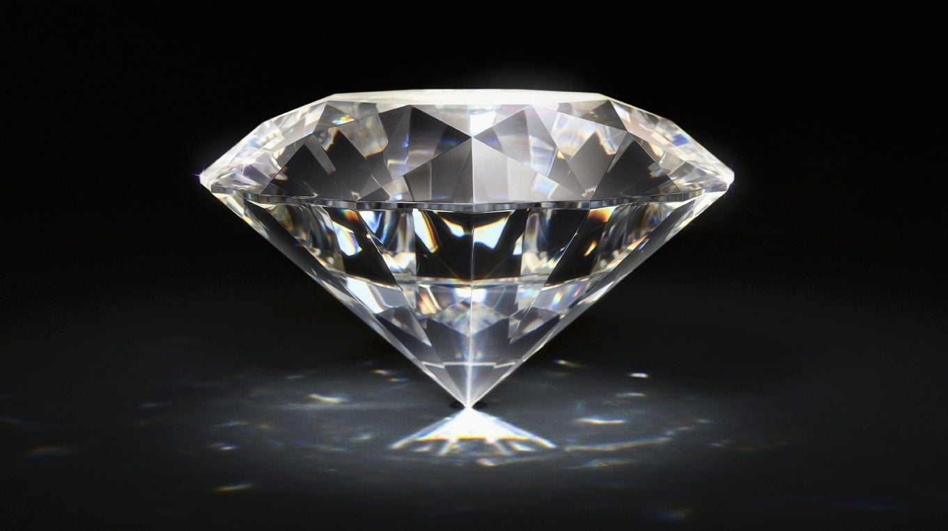 slide glass shaped diamond classic index on bowl