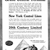 ADVERTISEMENT CELEBRATING THE NEW TERMINAL, 1912: