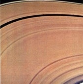 Rings of Saturn: An image from the spacecraft Voyager 2.