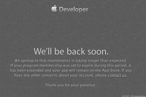 Apple developer site targeted in security attack, still down