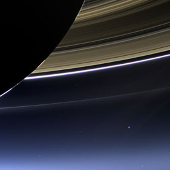 Cassini Probe Captures View of Earth from Saturn