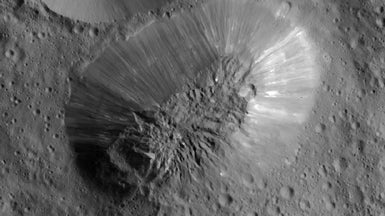 NASA's Dawn Mission Spies Ice Volcanoes on Ceres