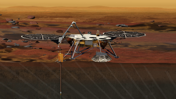 """""""Mole"""" on InSight Mars Lander Begins Burrowing, but the Going Is Rough"""