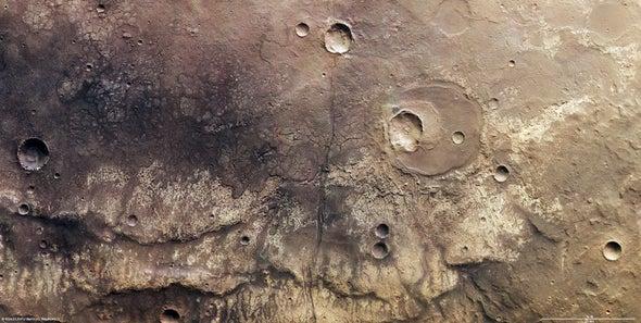 Near Ma'adim Vallis, one of the largest canyons on Mars