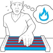 thermal grill illusion, touching heat,