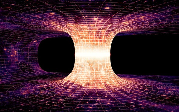 """Gravitational """"Echoes"""" Could Reveal Colliding Wormholes"""