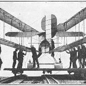 "British seaplane with folding wings (for ease of storage) was used at ""a naval flying school along the English coast"" in 1917."