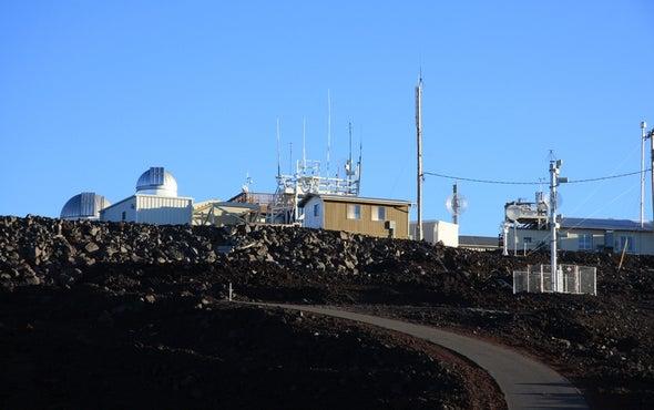 CO2 Levels Plummet after Tropical Storm Madeline Grazes Hawaii